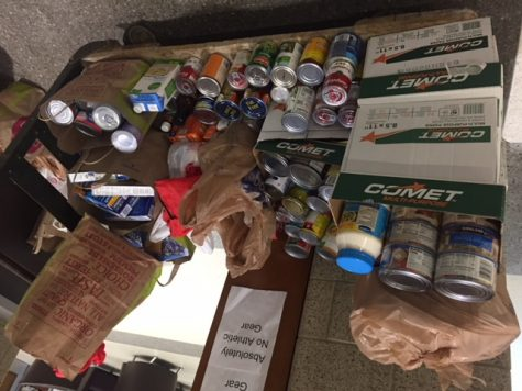 World Language Department Participates in Food Drive