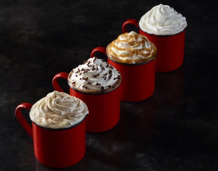 Variety+of+Starbucks+holiday+drinks