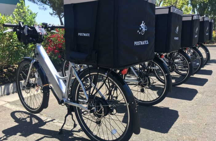 Postmates+bikes+lined+up