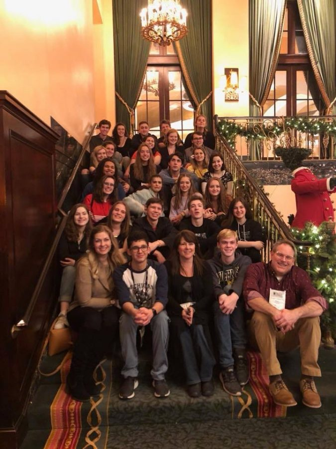 Group of students at the Michigan Thespian Conference.