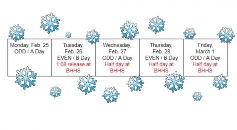 BHHS Updates Schedule Changes