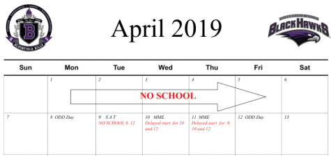 Spring Testing Schedule
