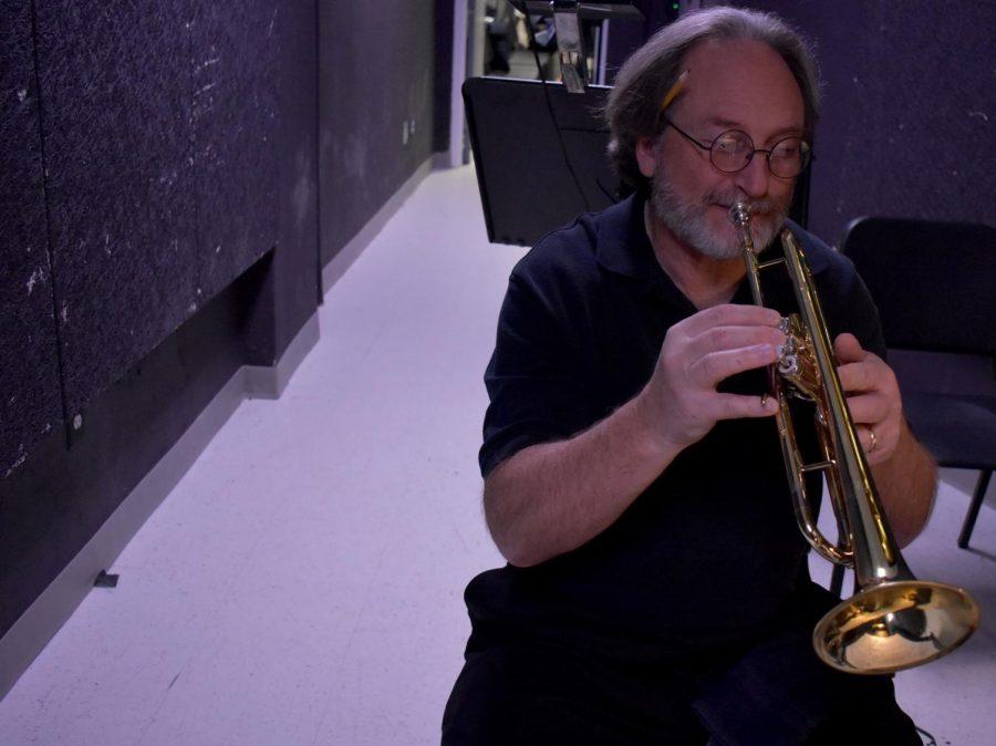 Teacher Plays Trumpet For Musical