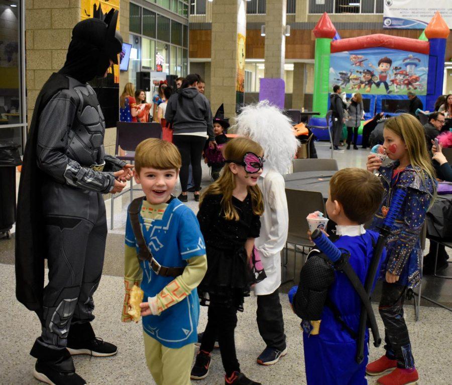 JP Arslanian entertains kids as Batman.