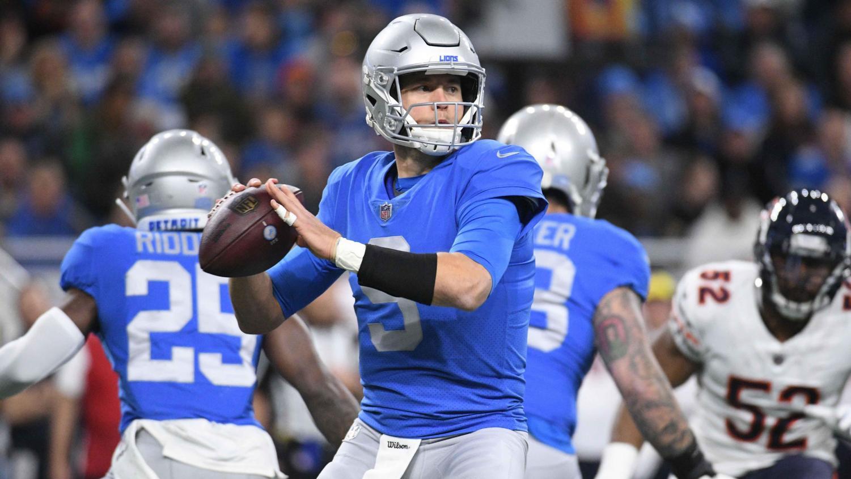 The Detroit Lions quarterback Matthew Stafford