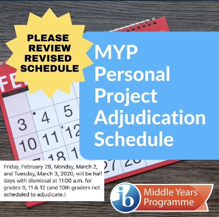 MYP project schedule change